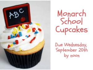 Monarch SchoolCupcakes