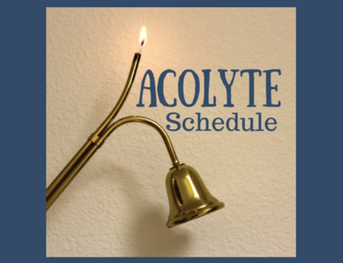 Acolyte Schedule