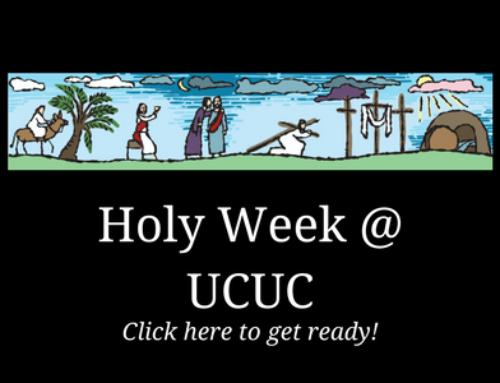 Holy Week …